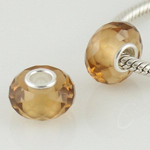 925 Crystal Beads - Topaz