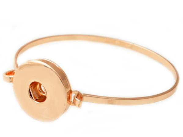 Snap Jewelry Wire Bangle - Rose Gold