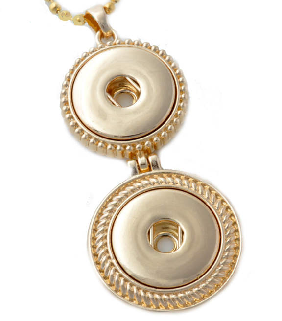 Snap Jewelry Pendant - Double Drop Gold