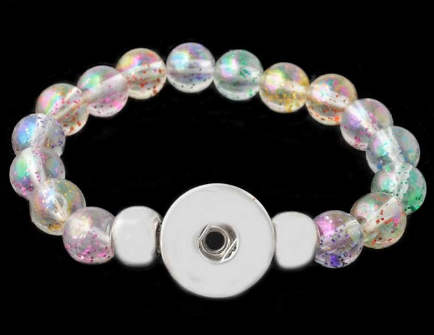 Snap Jewelry Bracelet Stretch - Sparkle Multicolor Pastel