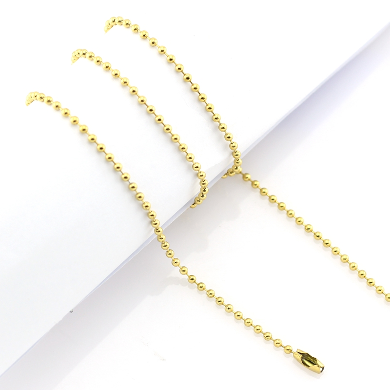"Stainless Steel Ball Chain 32"" Gold"