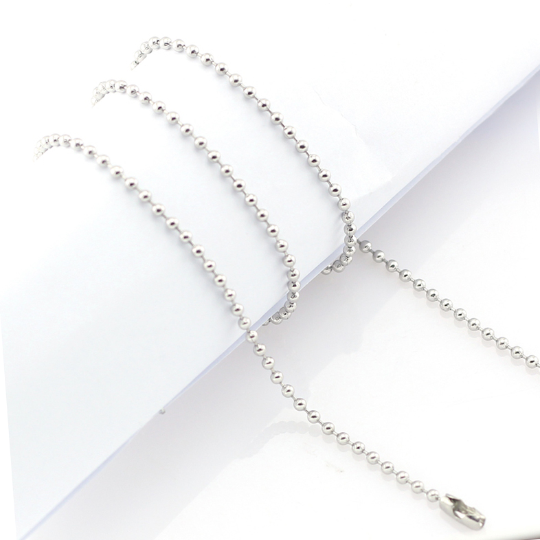 "Stainless Steel Ball Chain 32"" Silver"