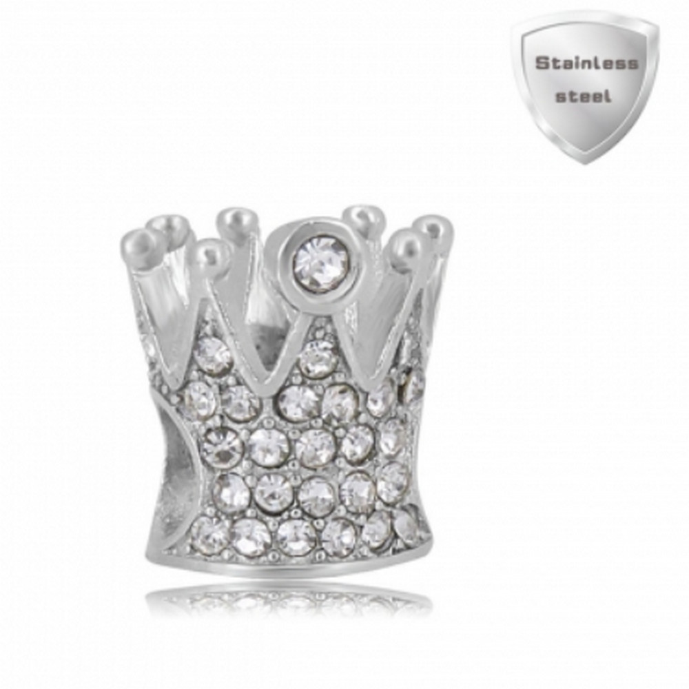 "Stainless Charm - Rhinestone Crown ""Queen of Charms"""