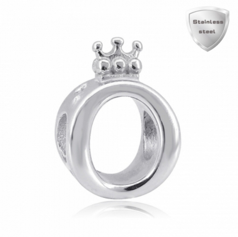 "Stainless Charm - Solid Crown ""Queen of Charms"""