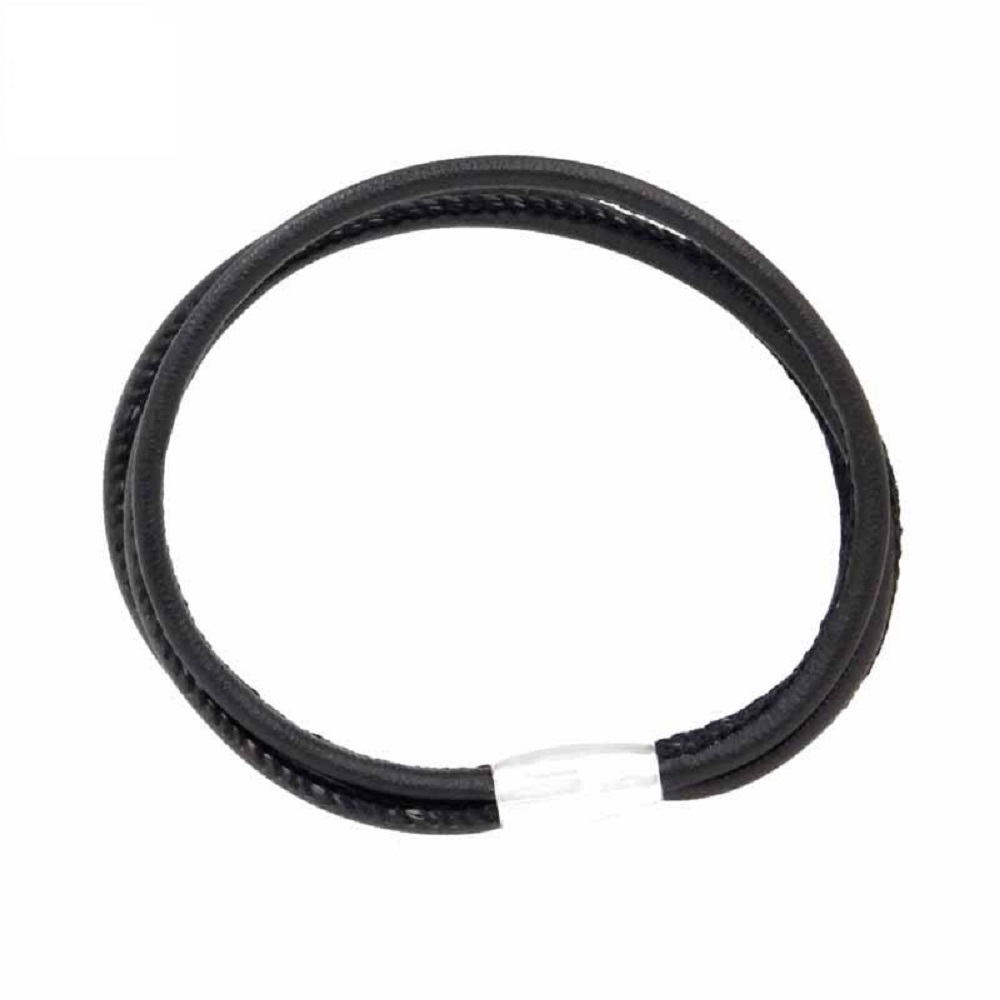 End Less Bracelet Magnetic Three Strand Black - 19CM 7.5""