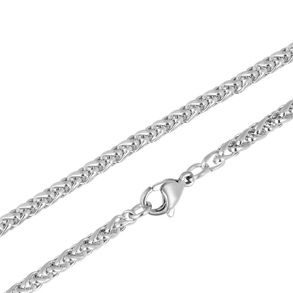 Stainless Steel 3.0mm Wheat Chain - 14""