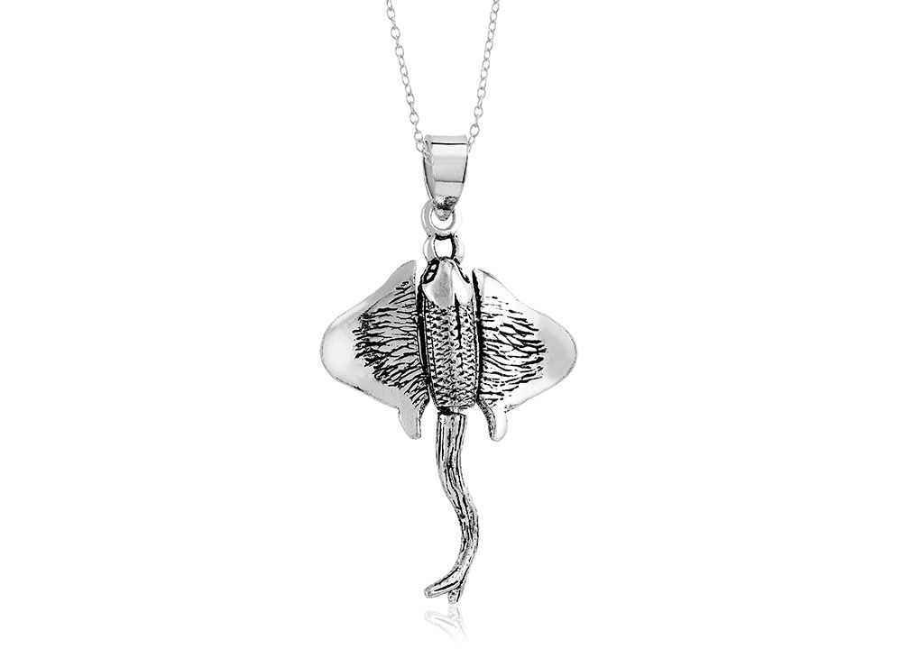 925 - Sterling - Stingray Movable Pendant