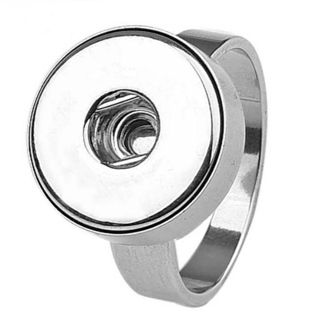 Snap Jewelry Stainless Steel Ring - Thin Band Size 11