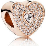 Charm 925 - Rose Gold Sweet Heart