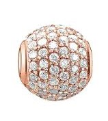 Charm 925 - Rose Gold Pave