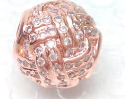 Charm 925 - Rose Gold Sparkling Love Knot