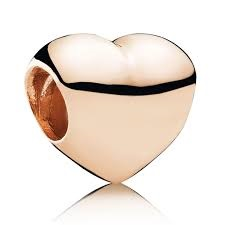 Charm 925 - Rose Gold Big Smooth Heart