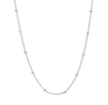 "Memory Locket Stainless Steel Ball Chain - Silver 18"" + ext"