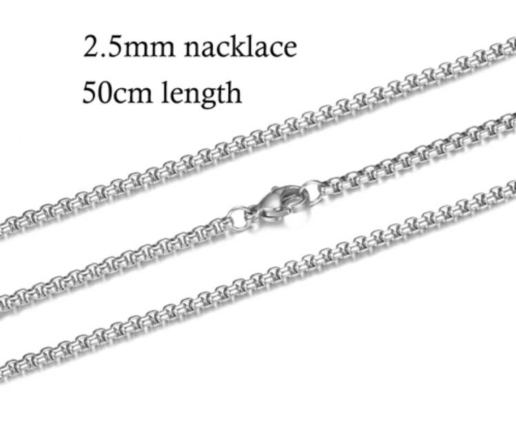 Stainless Steel 2.5MM Popcorn Chain - 20""