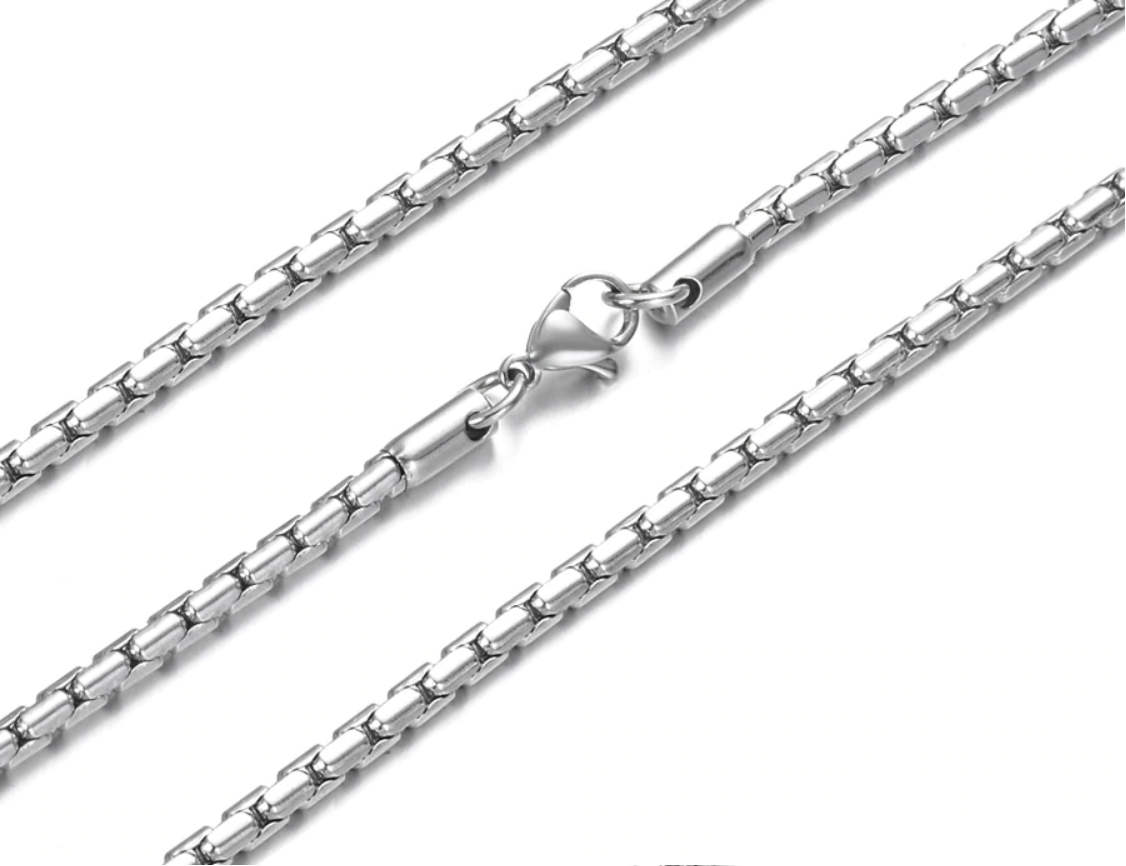 Stainless Steel 3.0mm Round Box Chain - 20""
