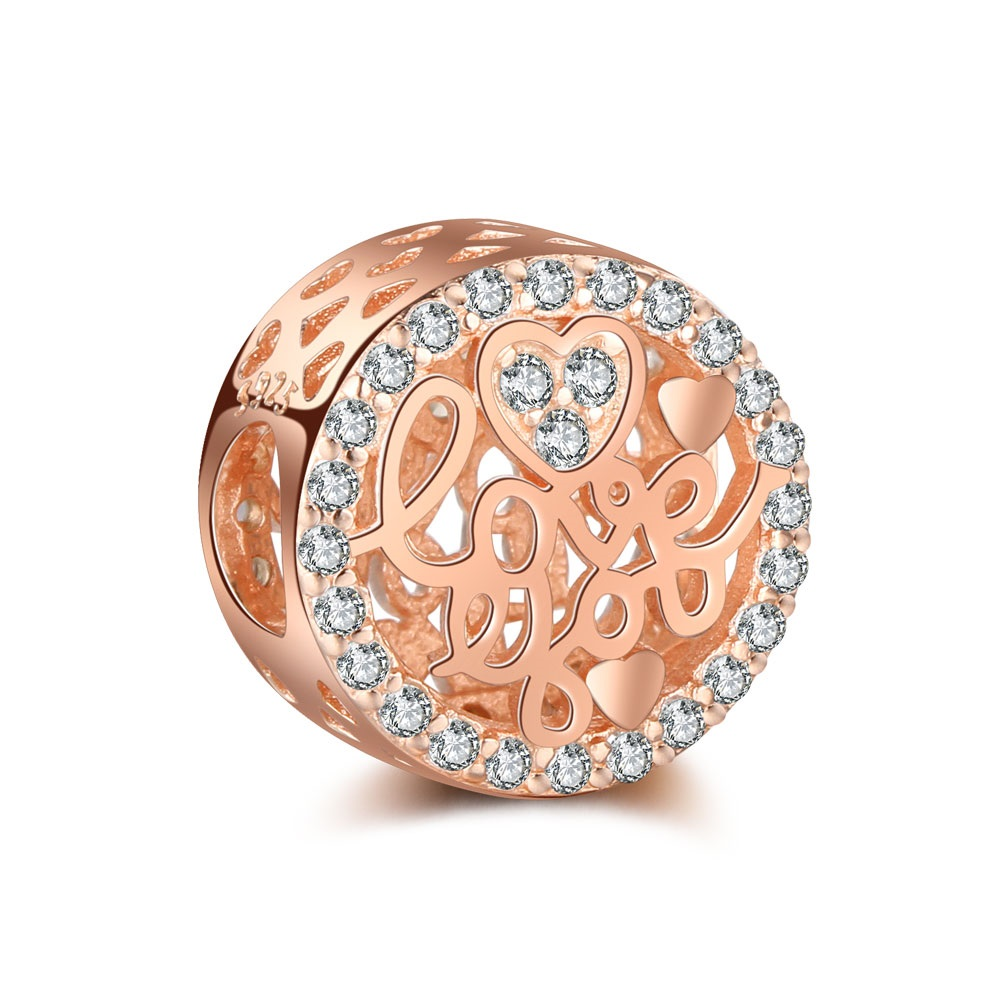 Charm 925 - Rose Gold Love You