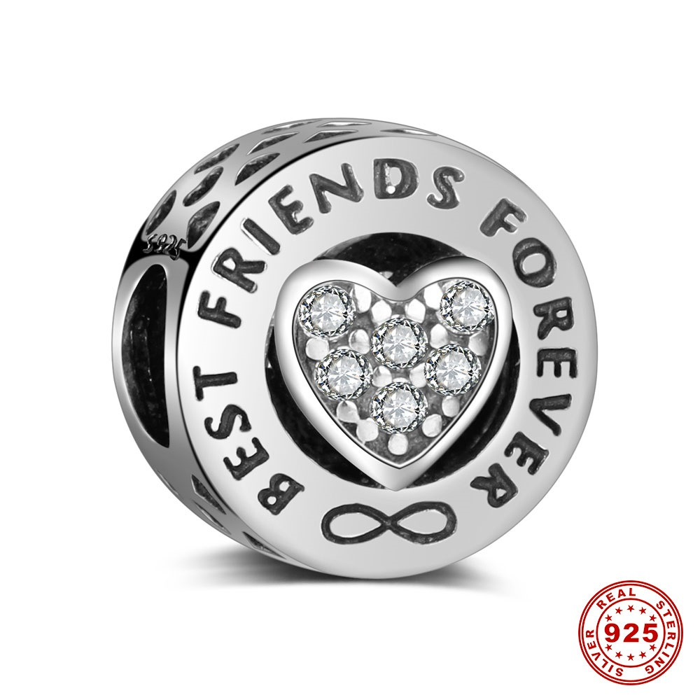 Charm 925 - Best Friends Forever Clear CZ