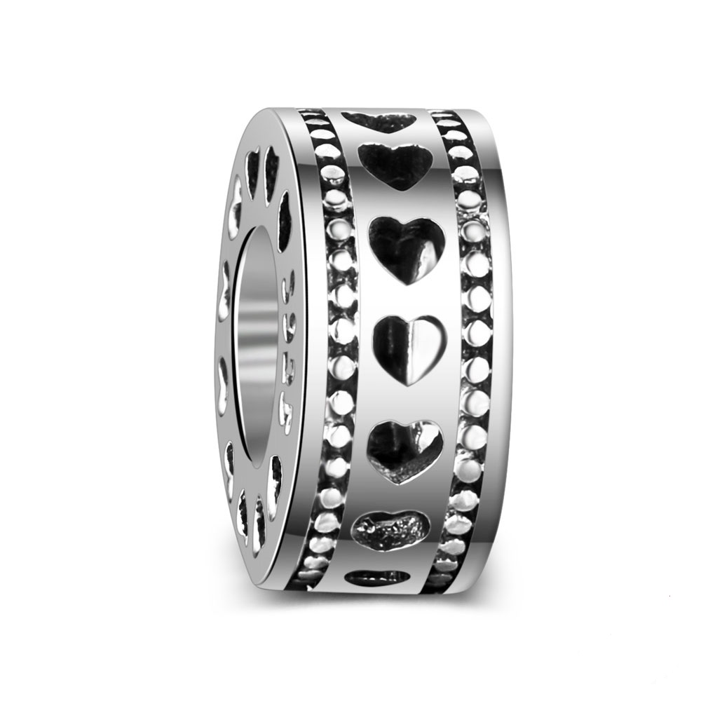 Charm 925 - Heart on Heart Spacer