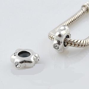 925 - Insert Spacer Stopper - CZ Stone - Clear