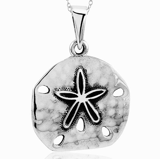 925 - Sterling - Sand Dollar Antique Pendant