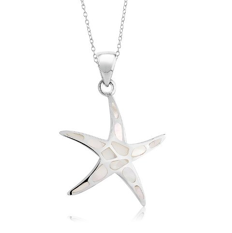 925 - sterling - Starfish MOP Medium Pendant