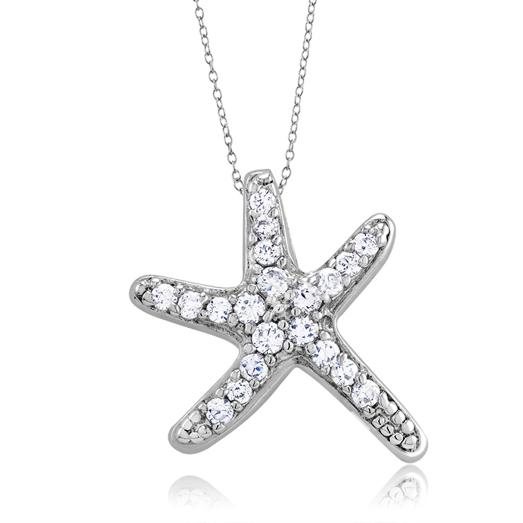 925 - Sterling - Starfish CZ Pandent