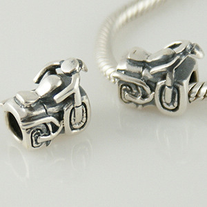Charm 925 - Silver - Motorcycle