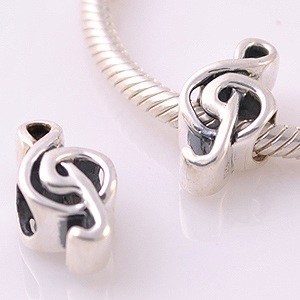 Charm 925 Silver - Music note