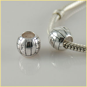 Charm 925 Silver - Volley Ball