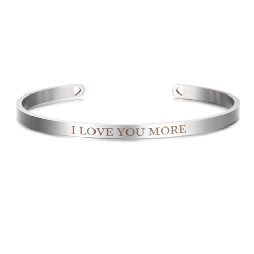 I Love You More - Silver Mantra Bracelet