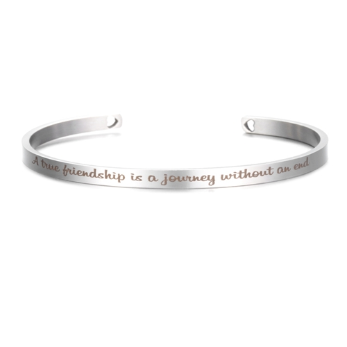 A True Friendship is a Journey without an End - Silver Stainless