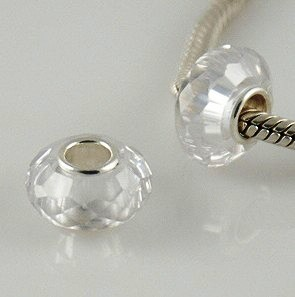 925 Zircon Beads - Clear