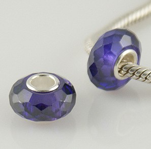 925 Zircon Beads - Purple
