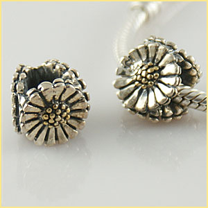 Charm 925 Gold & Silver - Daisy