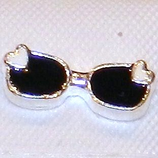 Memory Locket Charms Sunglasses Gold