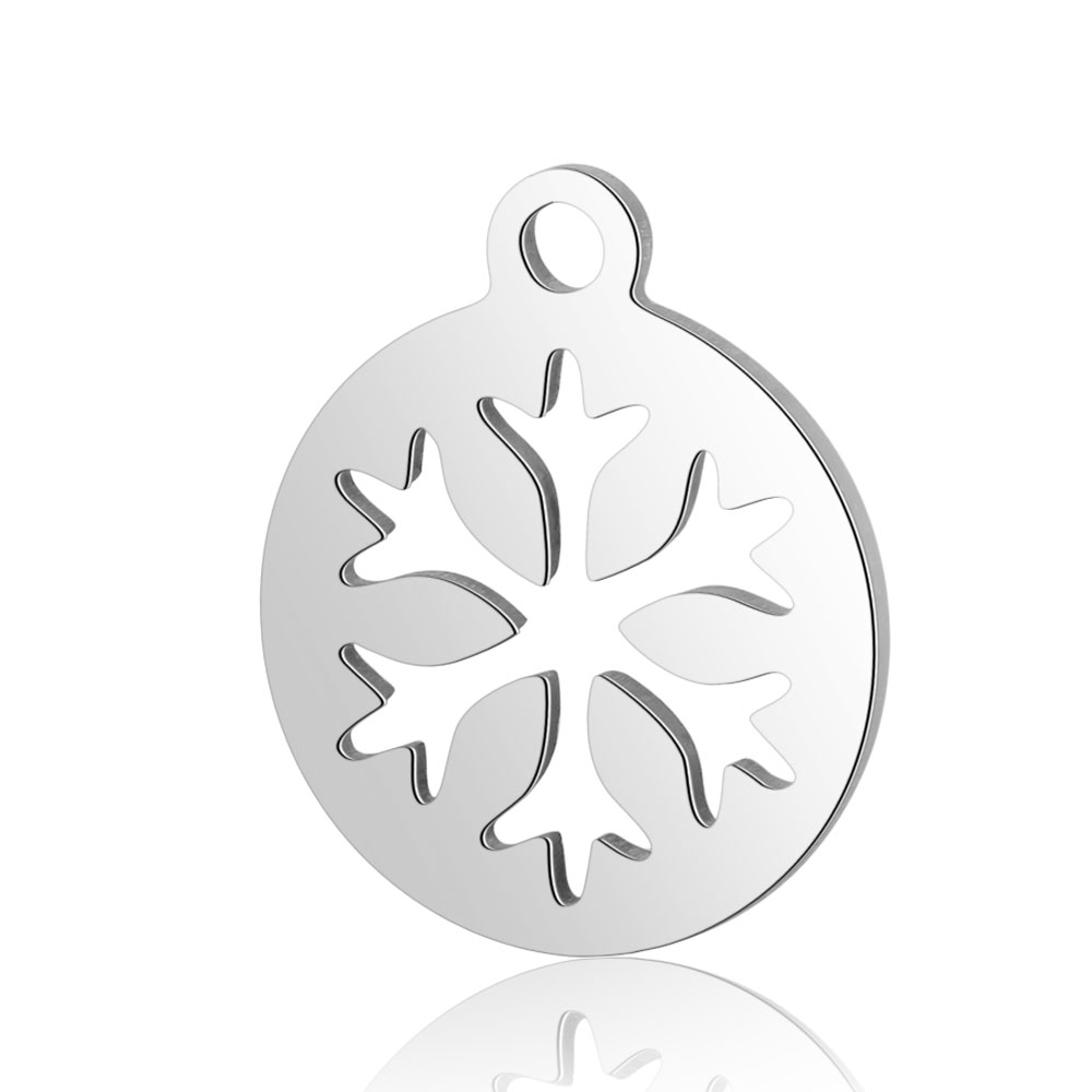 12*14mm Small Stainless Steel Charm - Snowflake