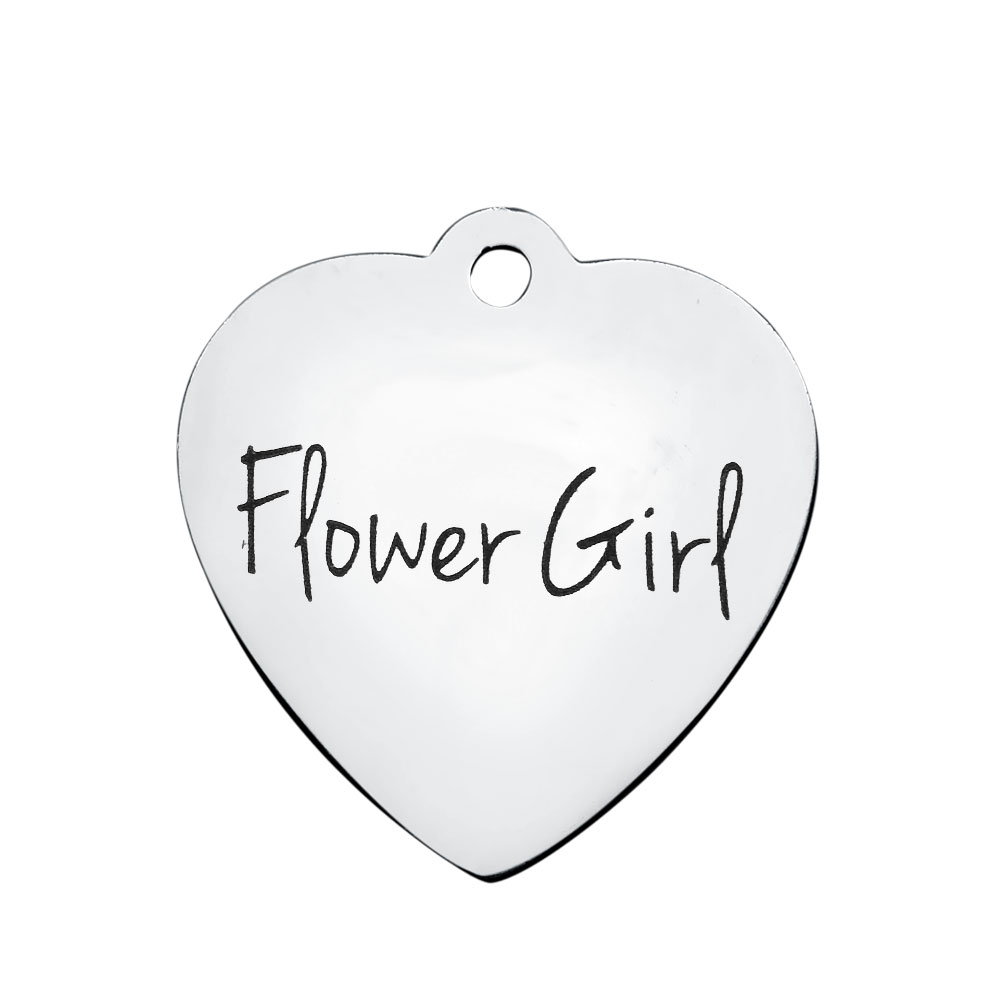 20.2*21.2mm Medium Stainless Steel Charm - Flower Girl