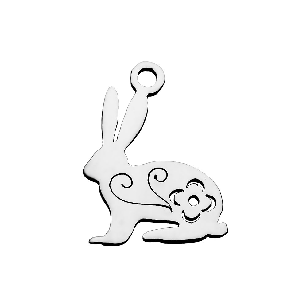 13*16mm Small Stainless Steel Charm - Rabbit
