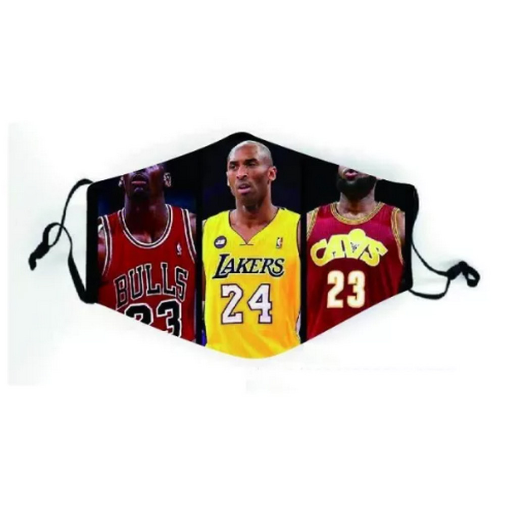 NBA LEGENDS MJ KOBE LEBRON Face Mask with Adjustable Ear Buckle