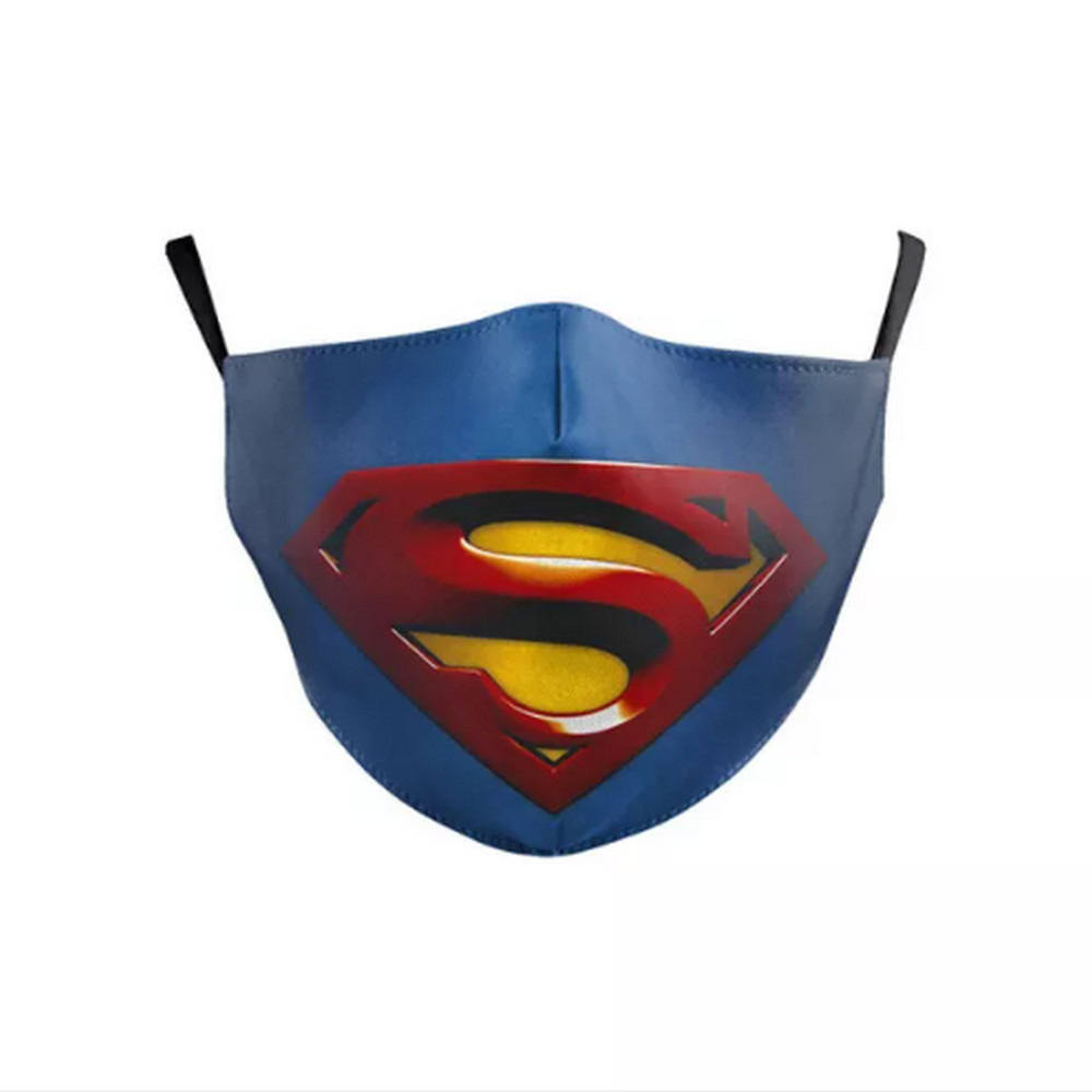 3D CHILD'S SUPERMAN Face Mask Ear Loops Washable W/SLOT