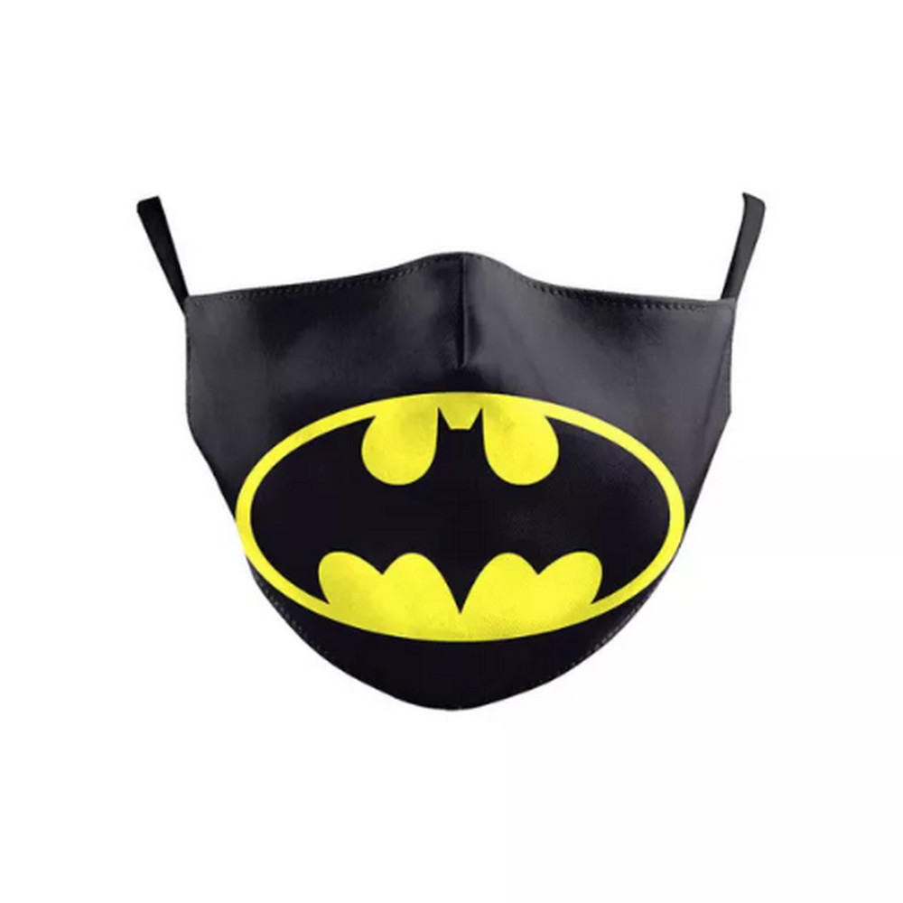 3D CHILD'S BATMAN Face Mask Ear Loops Washable W/SLOT