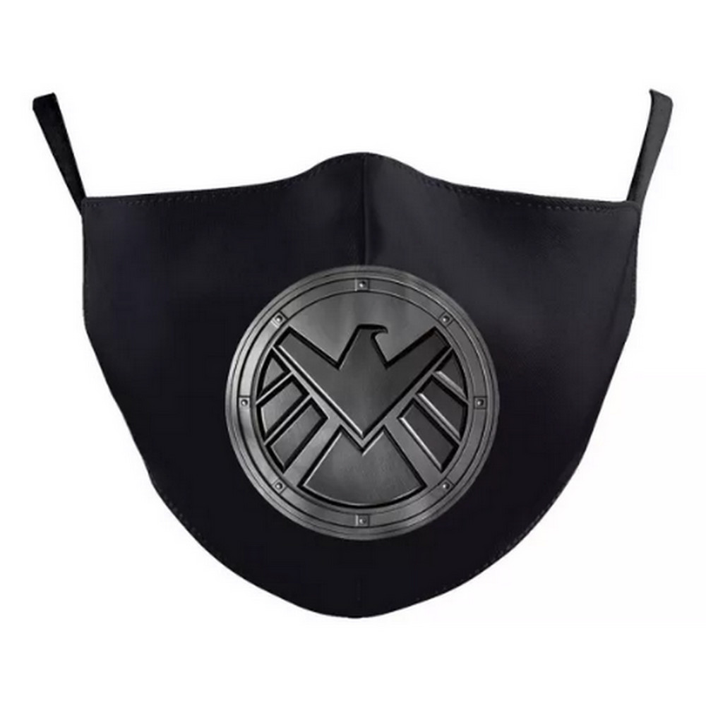 3D AGENTS OF SHIELD Face Mask adjustable Ear Loop Washable, SLOT