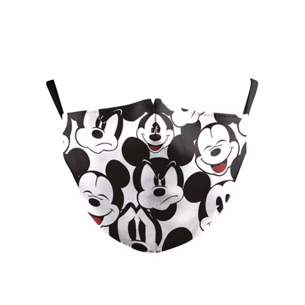 3D CHILD'S MICKEY MOUSE Face Mask Ear Loops Washable W/SLOT