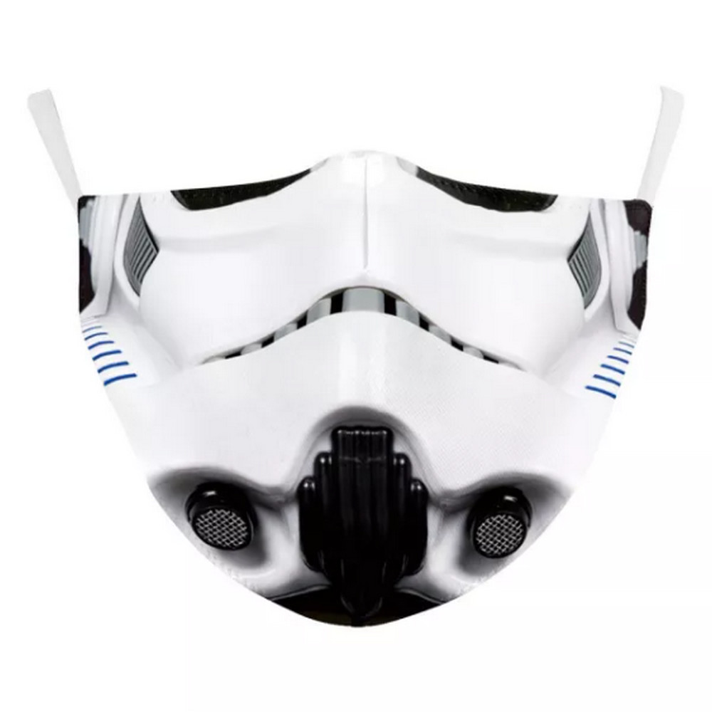 3D STORM TROOPER Face Mask Ear ADJUSTABLE Loops Washable W/SLOT