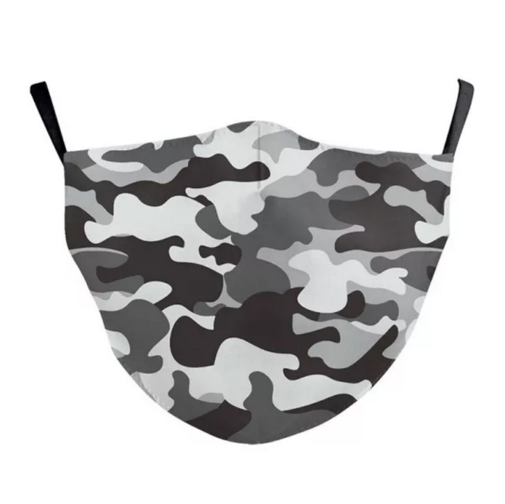 3D CHILD'S CAMOUFLAGE Face Mask Ear Loops Washable W/SLOT
