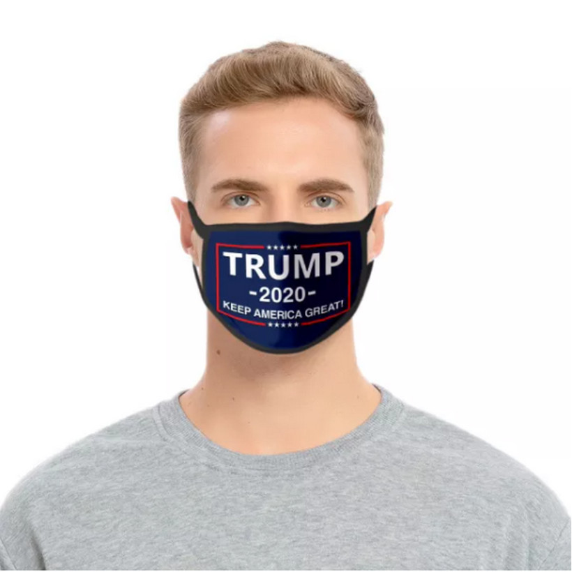 Trump Face Mask adjustable Ear Loop Washable w-SLOT ADULT