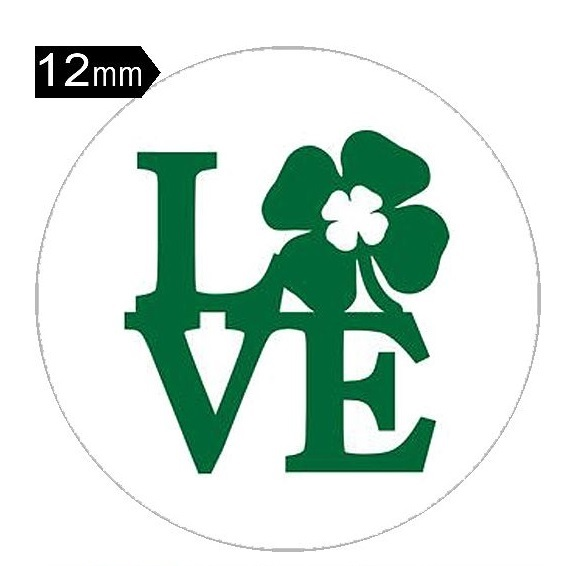 12mm Mini Snap Jewelry Four Leaf Clover St. Patrick's Day