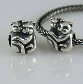 Charm 925 Silver - Two Cats. ONLY FITS BANGLE
