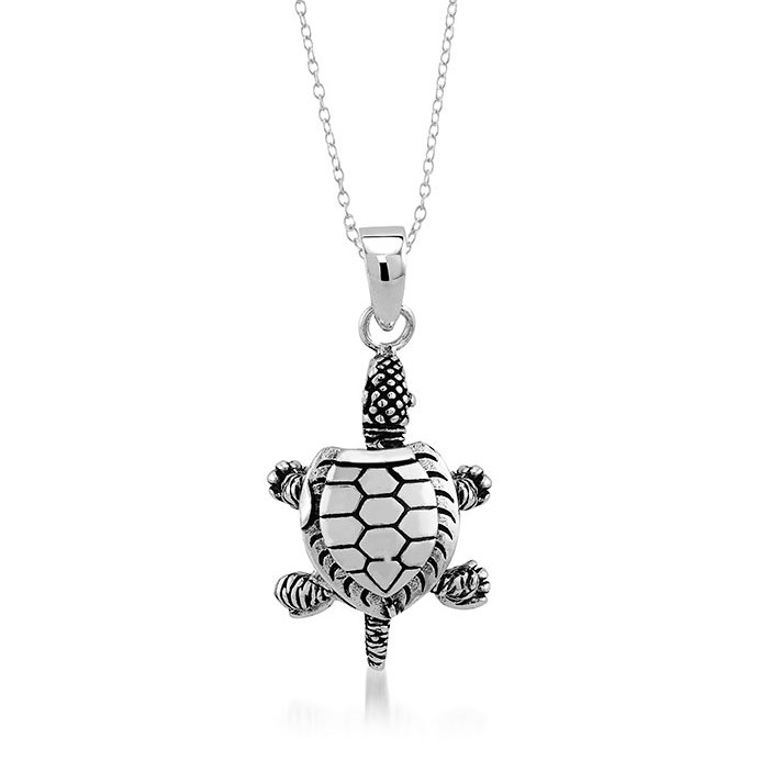 925 - Sterling - Turtle Movable Small Pendant