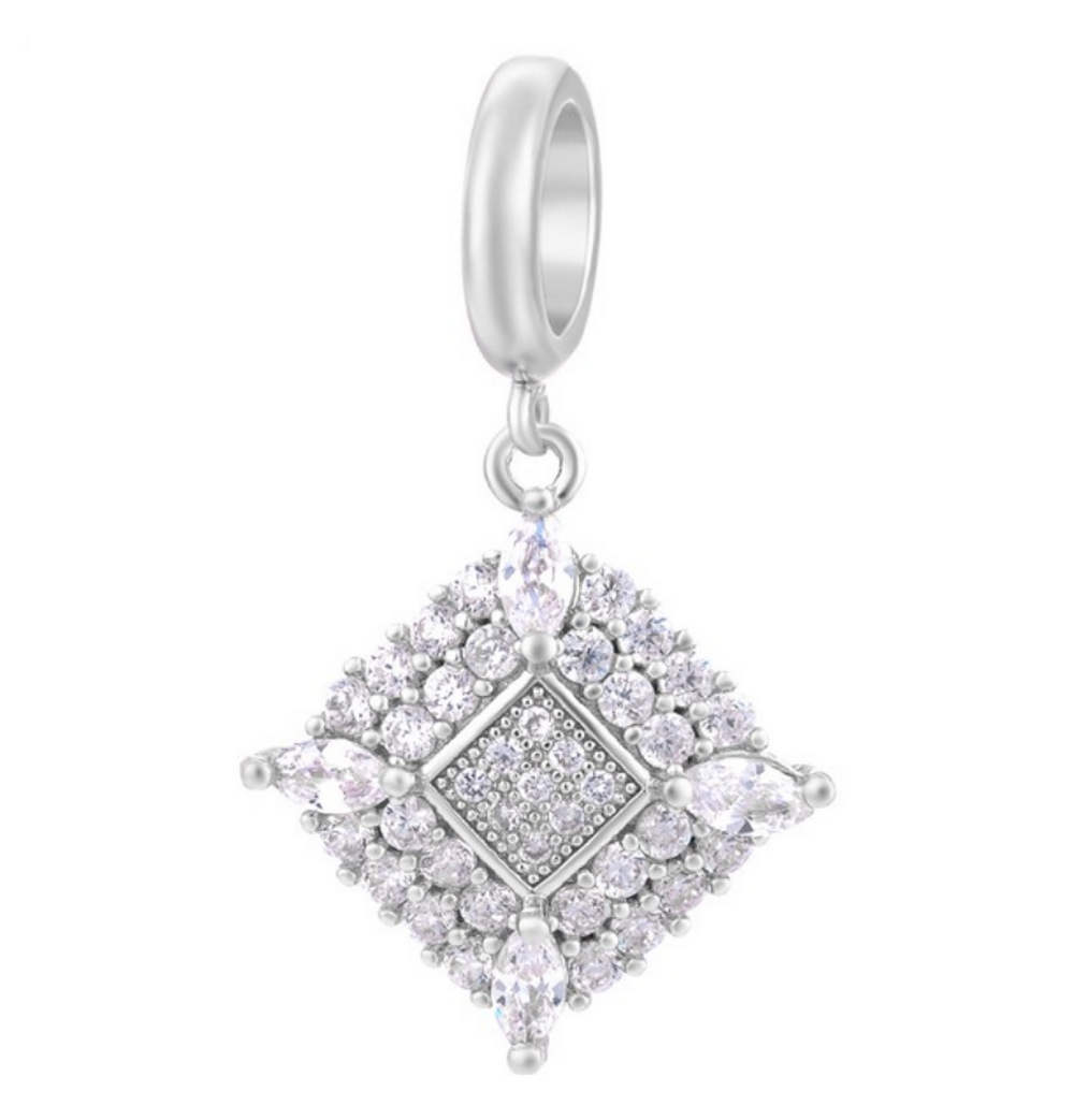 EndLess Charm Drop - CZ Marquise Corners Silver